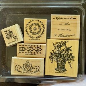 """2003 Stampin' Up! """"Memory of the Heart"""" 6 pc set"""